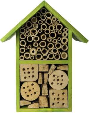 """Supermoss Beneficial Bug Hotel """"Tulip"""" Lime Green 1ea/5.5 In (W) X 11 In (H)"""