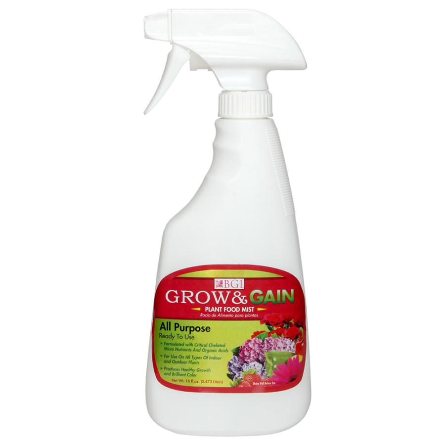 BGI GrowGain All Purpose Plant Food Mist Ready to Use 24ea/16 fl oz