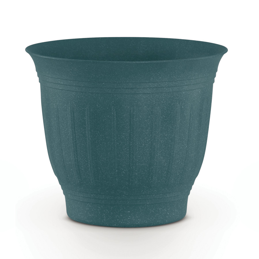 Bloem Colonnade Wood Resin Planter Forest Green 12ea/8 in