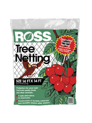 Ross Tree Netting & Bird Plant Protection Black 12ea/14Ftx14 ft