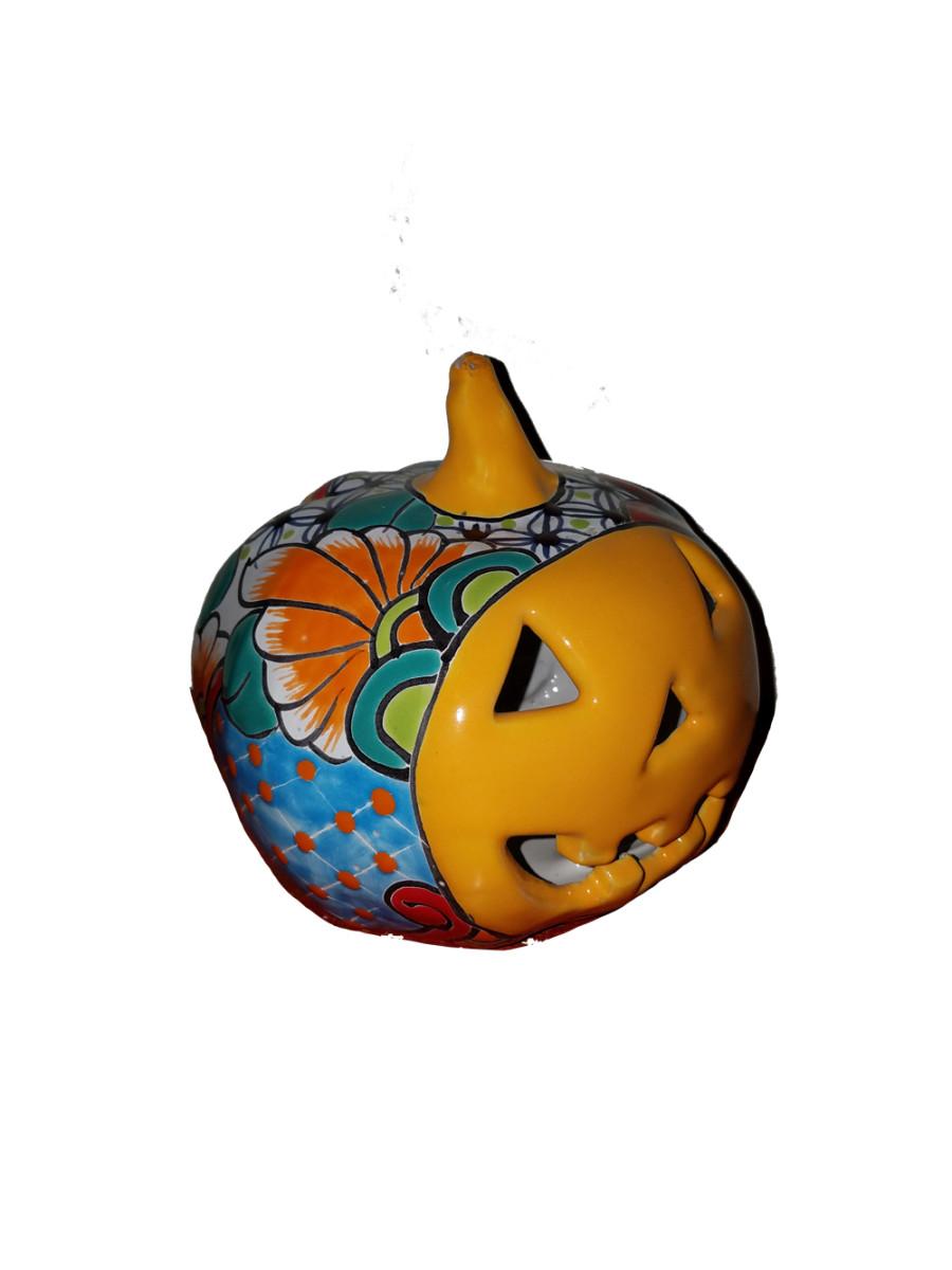 Talavera Pumpkin Statue Multi-Color 8ea/7 in
