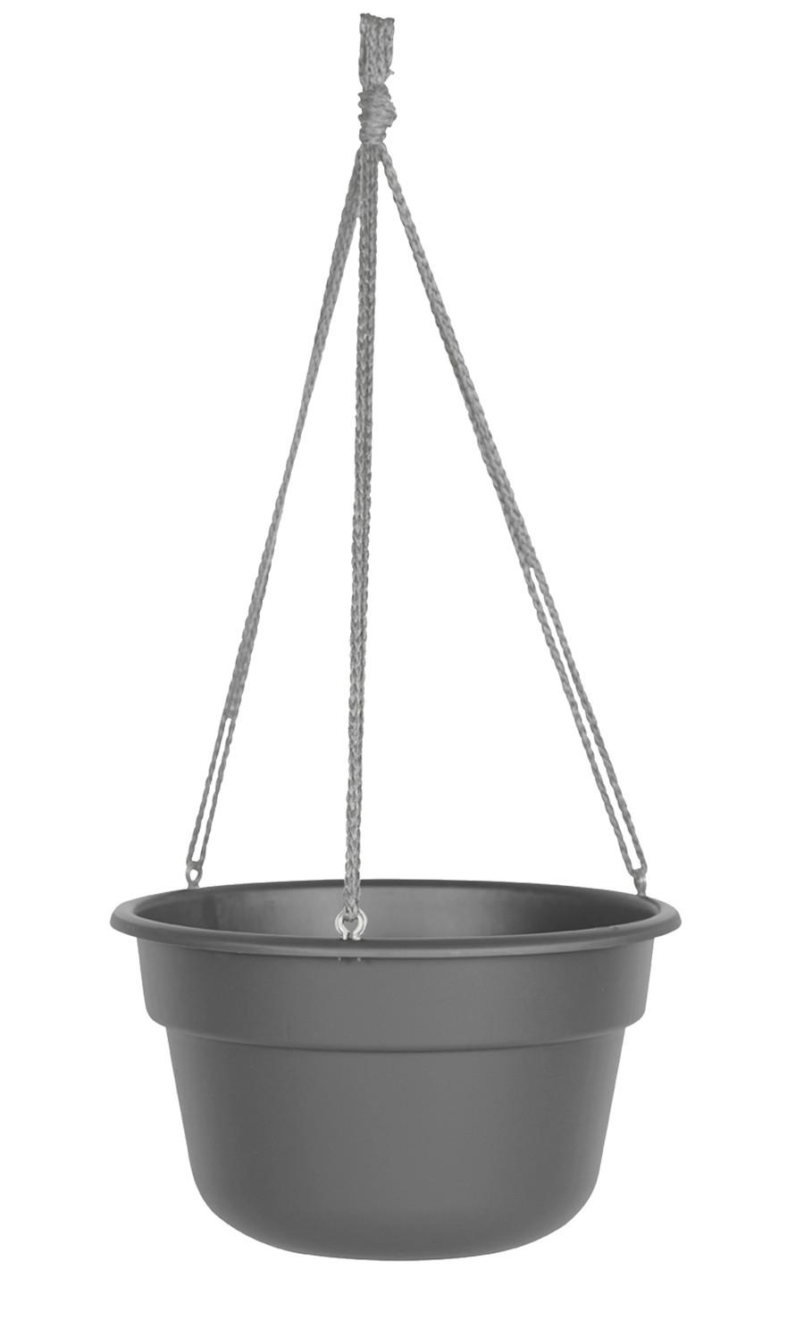 Bloem Dura Cotta Hanging Basket Planter Charcoal 12ea/12 in