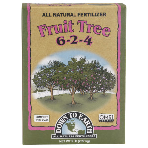 Down To Earth Fruit Tree Natural Fertilizer 6-2-4 6ea/5 lb