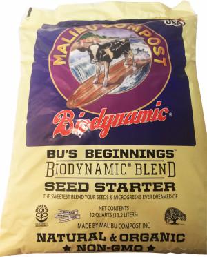 Malibu Compost BUs Beginnings Biodynamic Blend Seed Starter 1ea/12 qt