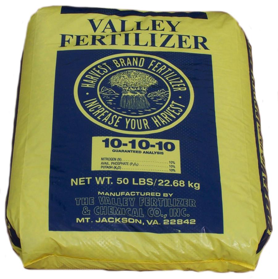Valley Fertilizer Harvest Brand 10-10-10 1ea/50 lb