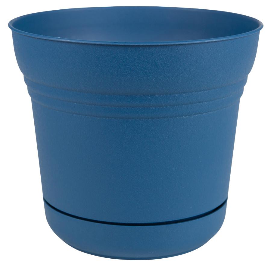 Bloem Saturn Planter Classic Blue 6ea/10 in
