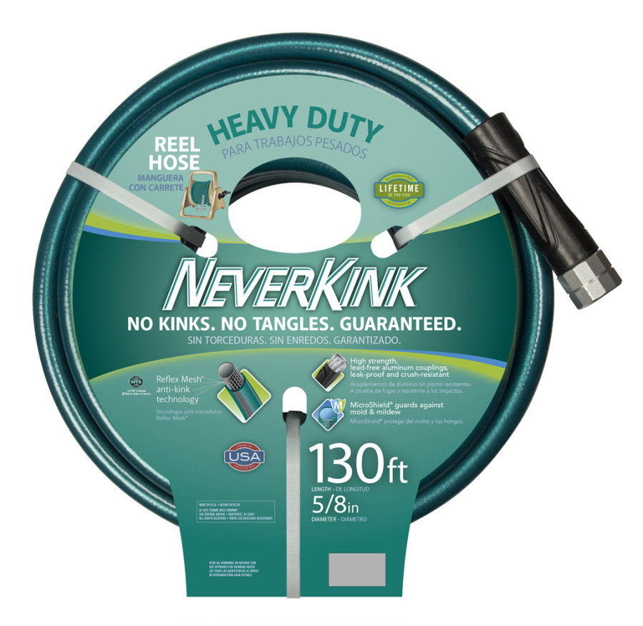 Teknor Neverkink Ultra Flex Heavy Duty Hose Green 3ea/5/8Inx130 ft