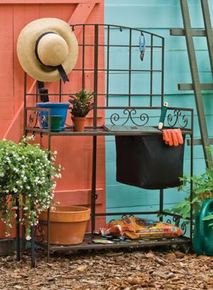 Panacea Potting Bench With Soil Reservoir Bronze 1ea/55.5Inx36Inx17 in