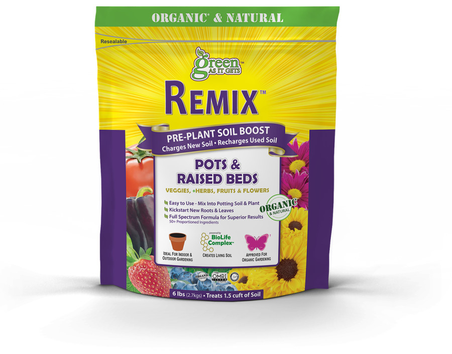 Green As It Gets Remix Pre-Plant Soil Boost for Pots & Raised Beds