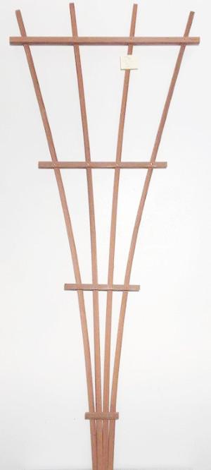 JJ Roberts California Trellis Redwood Fan Trellis Fan Brown 6ea/6 ft