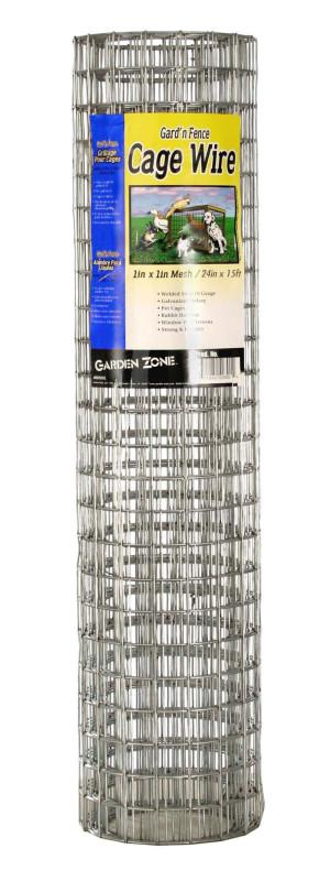 Garden Zone 16-gauge 1in X 1in Cage Wire Galvanized Silver 6ea/24Inx15 ft