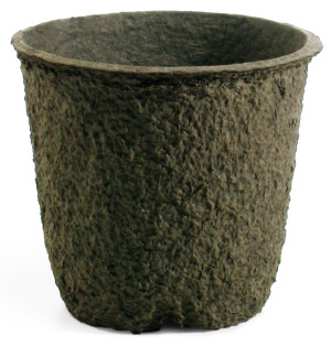 Western Pulp Molded Fiber Round Nursery Container Green 32ea/12Inx11In 3.4 gal