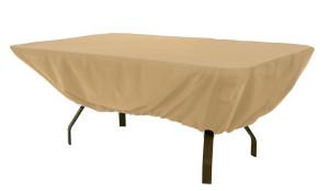 Classic Accessories Terrazzo Patio Cover Table Rectangle/Oval Sand 6ea/72 in