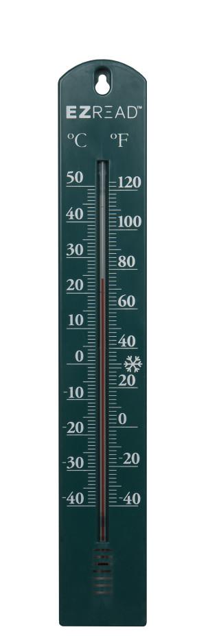 E-Z Read Thermometer Green 10ea/15.5 in