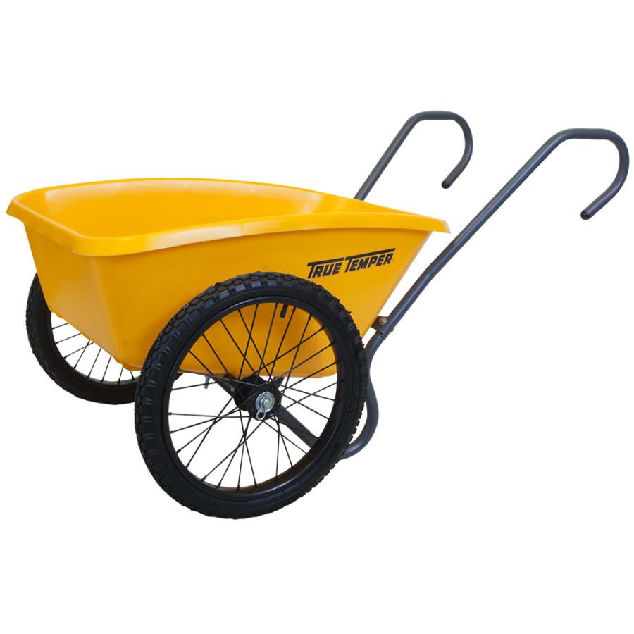 Ames Total Control Garden Cart Poly Yellow 6ea/5Cuft