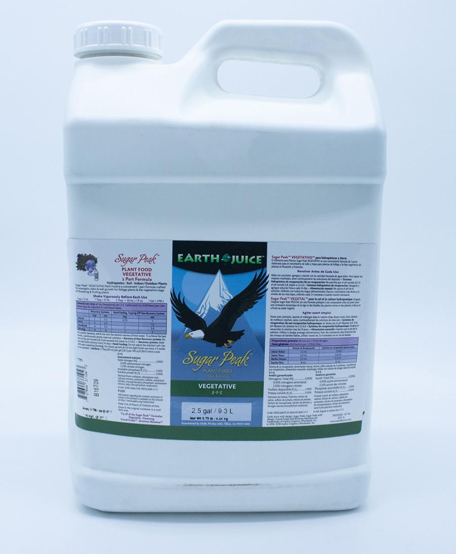 Earth Juice Sugar Peak Vegetative 3-1-5 Rock Phosphate 2ea/2.5 gal
