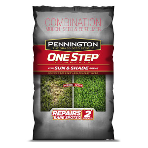 Pennington One Step Complete Sun & Shade Mulch Grass Seed & Fertilizer 1ea/30 lb