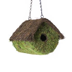 Supermoss Log House Woven Birdhouse Fresh Green 6ea/8In X 10 in