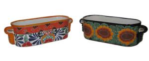 Talavera Window Boxes Santa Fe Mexico Calla Lily & Sunflower 4ea/13 in