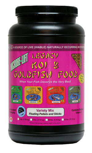 Microbe-Lift Legacy Koi & Goldfish Food Variety Mix 6ea/36 oz
