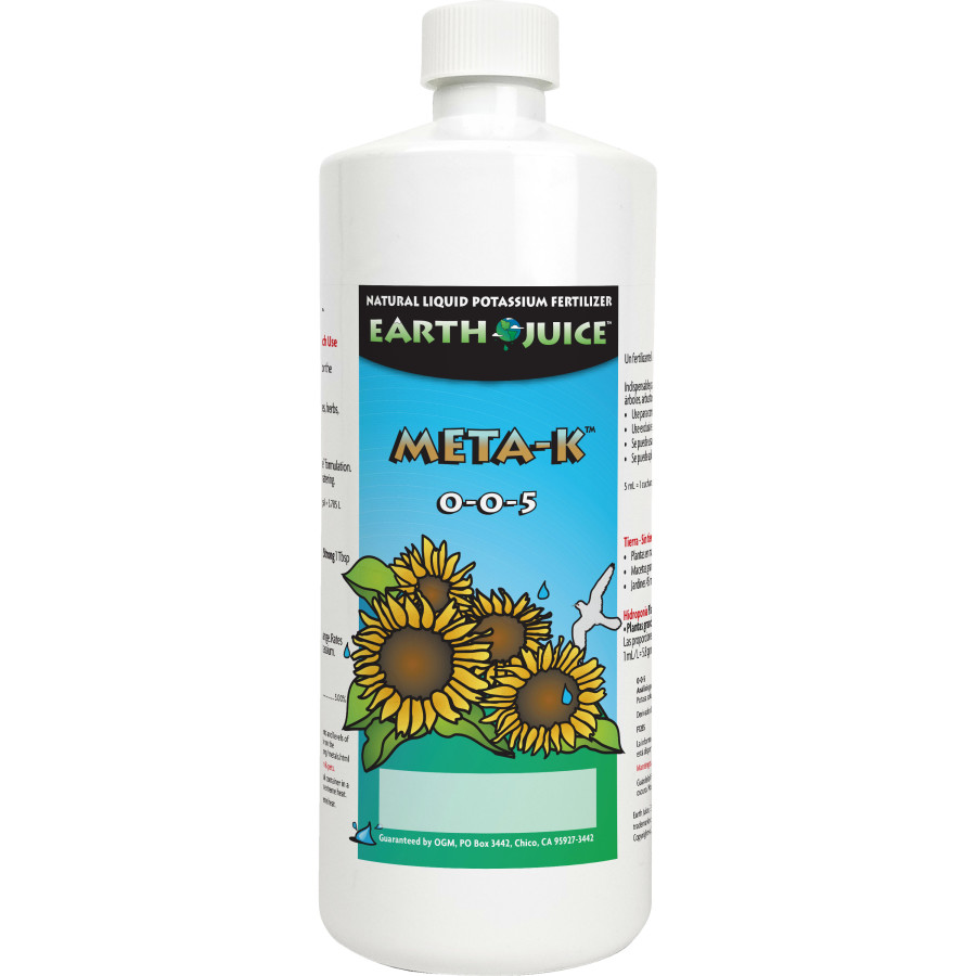 Earth Juice Meta-K Natural Liquid Potassium Fertilizer 0-0-5 12ea/32 oz
