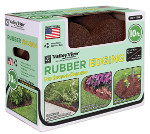 Valley View Earth Edge Rubber Edge And Poly Nails Red 2ea/10 ft