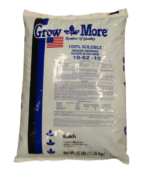 Grow More High Bloom Soluble Fertilizer Concentrate 10-52-10 1ea/25 lb