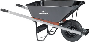 Corona Steel Wheelbarrow 60in Steel Handles Black 1ea/6Cuft