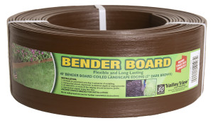Valley View Bender Board Coil With Metal Stakes Dark Brown 4ea/5 In X 40 ft