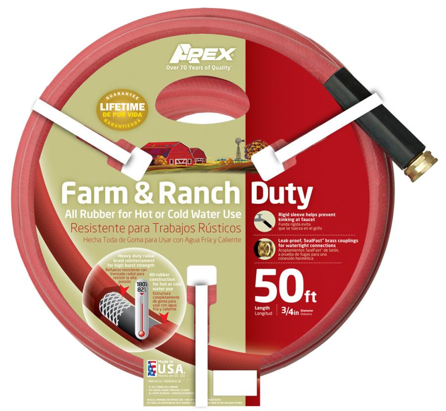 Teknor Farm & Ranch Rubber Hose Red 3ea/3/4Inx50 ft