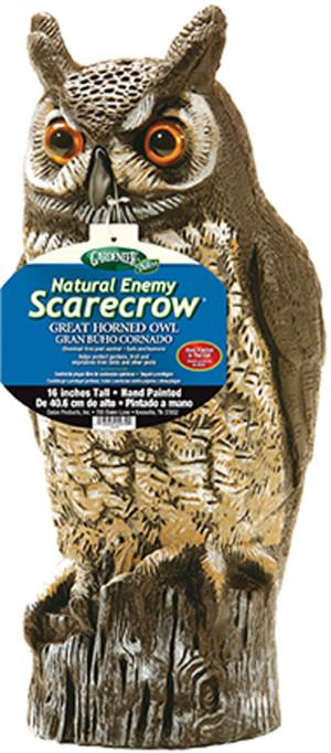 Dalen Gardeneer Natural Enemy Scarecrow Great Horned Owl Brown 6ea/16 in