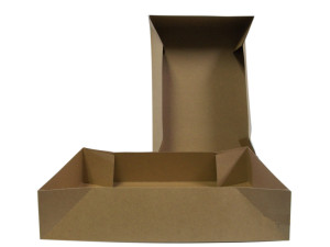 Bedding Box Tray Donut Brown 250ea/13Inx9Inx3In Large