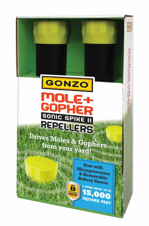 Gonzo Mole & Gopher Sonic Spikes Repellers 6ea/2 pk