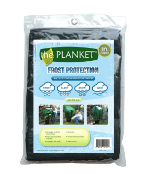 Planket Frost Protection Plant Cover Round Green 12ea/8 ft